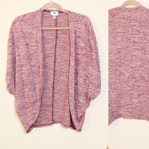 Old navy Heather red open front cardigan